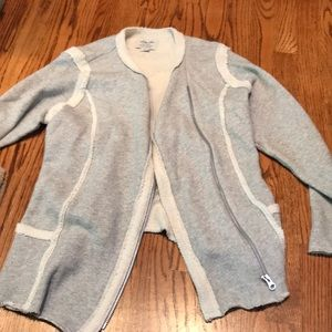 Lucky brand gray knit sweater jacket